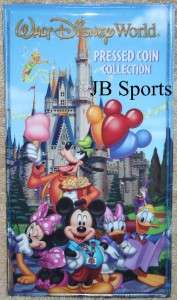 Walt Disney World Characters Pressed Coin Collection Book/Album