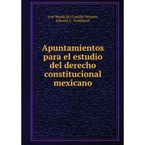 : Edward G. Pankhurst José María del Castillo Velasco: Books