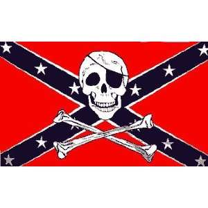 CONFEDERATE FLAG SKULL N CROSSBONES Sports & Outdoors