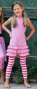 Hula Mula Pink Striped Dress and Legging set