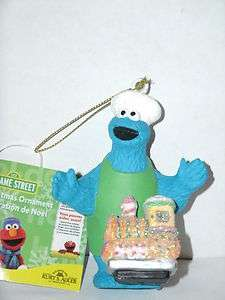 Sesame Street COOKIE MONSTER WITH TRAIN Ornament NWT