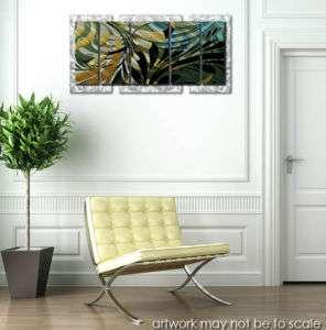 Jungle floral metal wall art modern home decor