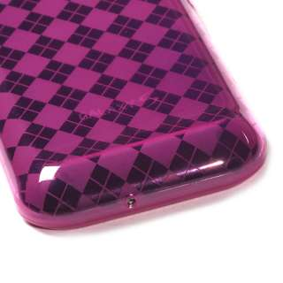 Hot Pink Argyle Candy Skin Cover SAMSUNG T959 Vibrant