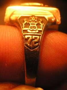 Solid Gold Class Ring 12g Grams Scrap $275 High school Bullion