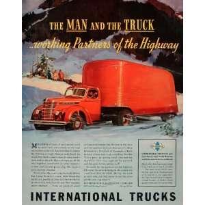ruck Red Semi Winer Highway   Original Prin Ad Home & Kichen