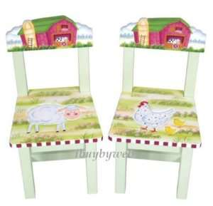 Guidecraft Kids Little Farm House Set of 2 Extra Chairs