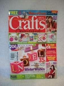 Crafts Beautiful Magazine November 2009