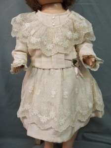 Antique Dressed Composition Mama Doll Clean Cloth Body & Crier