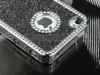 Bling Diamond Chrome rhinestone Hard Case For iPhone 4 4S 4G Protector
