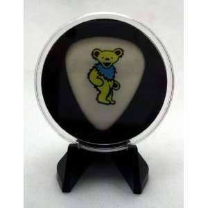 Grateful Dead Yellow Dancing Bear Guitar Pick With MADE IN USA Display