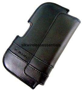 New OEM D3O HTC Sensation 4G Premium Genuine Black Leather Pouch Case