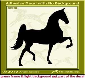 Saddlebred Horse Trailer Auto Window Decal Sticker 438