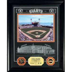 San Francisco Giants AT&T Park Archival Etched Glass with