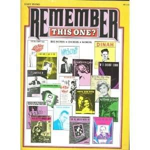 One? Vocal Piano Guitar ; Big Notes ; Mr. Sandman + Easy Piano Books