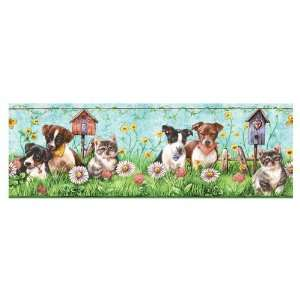 allen + roth Puppies And Kittens Wallpaper Border