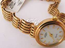 ROTARY ELITE LADIES GOLD WATCH MOTHER OF PEARL DIAL