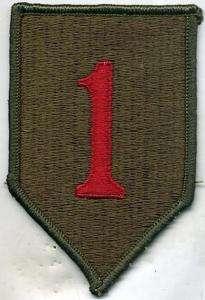 US Army Vietnam Era 1st Infantry Division Patch