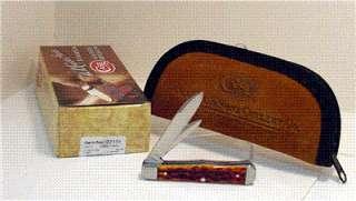CASE XX 2011 CHESTNUT JIGGED BONE COFFIN JACK KNIFE #7191