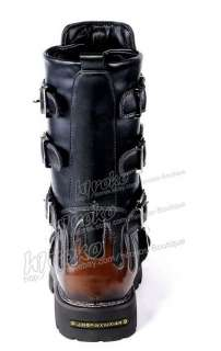 HOT visual kei GOTHIC PUNK Kera rock hard metal Boots shoes US 8 10.5