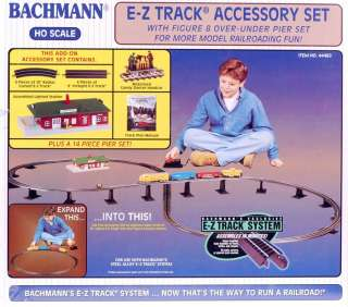 Bachmann HO Scale Train E Z Track System Steel/Black Accessory Set