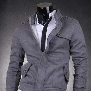 3mu Mens Designer Jacket Top Coats Shirts Military Black/Gray S M L XL