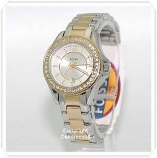 FOSSIL WOMENS RILY MINI STAINLESS STEEL WATCH ES2880
