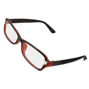 Como Clear Lens Black Plastic Arm Plain Glasses Spectacles