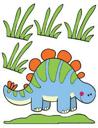 DINOSAUR DINO BABY BOY NURSERY WALL ART DECALS STICKERS