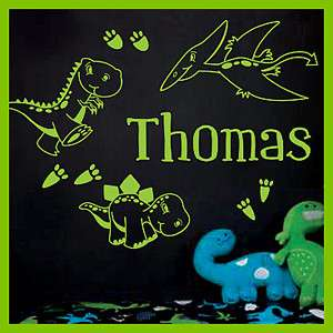 Name Dinosaurs Vinyl Wall Decals Stickers Kids Art #014
