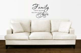 FAMILY LOVE QUOTE VINYL WALL DECAL STICKER ART DECOR 894708001069
