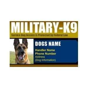 MILITARY K9 ID Badge   1 Dogs Custom ID Badge   Design#3