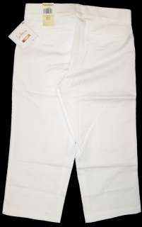 Dockers Womens Sateen Sure Fit Capris White NWT