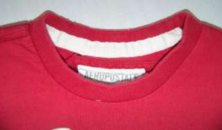 TEE red T SHIRT APPLIQUE graphic MENS size S small   36 chest
