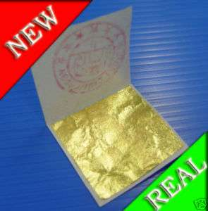 24K Real Gold Leaf 100 Sheets Gilding Framing Art Craft