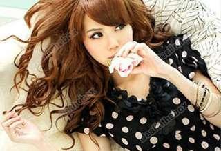 Fashion Womens V Neck Chiffon Casual Mini Dress Dots Print Scalloped