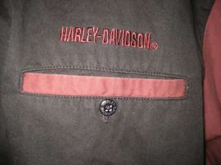 Awesome Harley Davidson Button Down Embroidered Garage Shirt Mens XXL