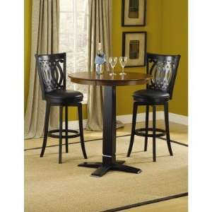 in Black Finish with Van Draus Swivel Bar Stools Furniture & Decor