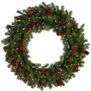 Green   Mixed Christmas Pine   50 Clear Dura Lit Lights   240 Tips