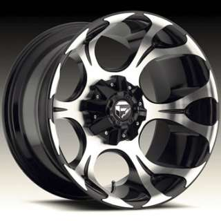 20x12 Machined Black Wheel Fuel Dune 8x170