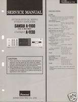 Original Service Manual Sansui A 1100/1130 Int Amp