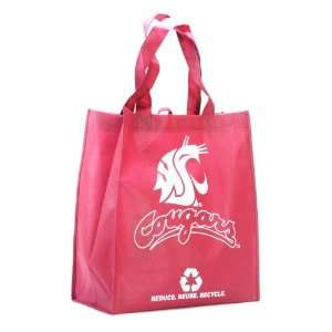 Washington State Cougars Crimson Reusable Tote Bag Sports