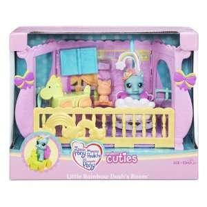 Pony Newborn Cuties Playset Little Rainbow Dashs Room: Toys & Games