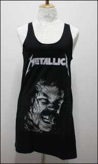 Metallica Black Rock Women Mini Dress Tank Shirt Size S