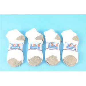 Lot 6 Pairs of Men Cotton Low Cut Ankle Sport Socks White