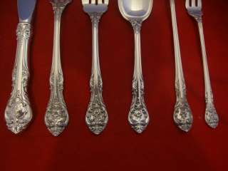 KING EDWARD BY GORHAM STERLING SILVER FLATWARE SET SERVICE 55 PIECES