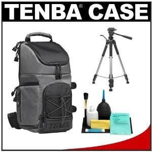 Tenba Shootout Sling Digital SLR Camera Bag   Small (Silver) + Tripod