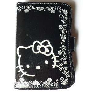 Hello Kitty Leathre like PU Wallet Puse (Silver Grey and Black) Baby