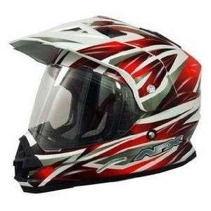AFX FX 39 Dual Sport Motorcycle Helmet Red Multi XXXXL 4XL