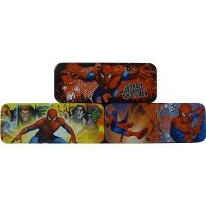 Marvel Spiderman Metal Tin Pencil Box Case 8 (Blue