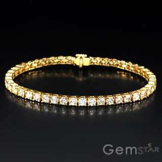 CT DIAMOND LADIES TENNIS BRACELET 18K YELLOW GOLD